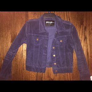 Nasty Gal Corduroy Purple/Navy Jean Jacket